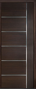 Custom Pivot Front  Door Example, Mahogany Wood Veneer-Walnut DB-PVT-B1 42x108