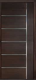 Custom Pivot Front  Door Example, Mahogany Wood Veneer-Walnut DB-PVT-B1 42x96
