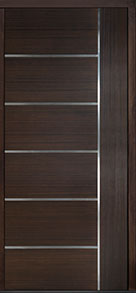 Custom Pivot Front  Door Example, Mahogany Wood Veneer-Walnut DB-PVT-B1 48x108