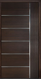 Custom Pivot Front  Door Example, Mahogany Wood Veneer-Walnut DB-PVT-B1 48x96