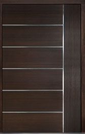Custom Pivot Front  Door Example, Mahogany Wood Veneer-Walnut DB-PVT-B1 60x96