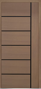 Custom Pivot Front  Door Example, Oak Wood Veneer-Light-Loft DB-PVT-B1 48x108