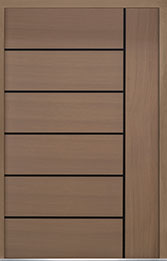 Custom Pivot Front  Door Example, Oak Wood Veneer-Light-Loft DB-PVT-B1 60x96