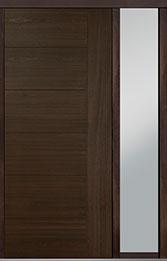 Custom Pivot Front  Door Example, Mahogany Wood Veneer-Walnut DB-PVT-B2 1SL18 42x96