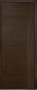 Custom Pivot Front  Door Example, Mahogany Wood Veneer-Walnut DB-PVT-B2 42x108