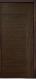 Custom Pivot Front  Door Example, Mahogany Wood Veneer-Walnut DB-PVT-B2 42x96
