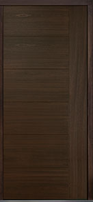 Custom Pivot Front  Door Example, Mahogany Wood Veneer-Walnut DB-PVT-B2 48x108