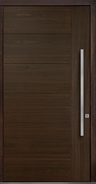 Custom Pivot Front  Door Example, Mahogany Wood Veneer-Walnut DB-PVT-B2 48x96