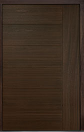 Custom Pivot Front  Door Example, Mahogany Wood Veneer-Walnut DB-PVT-B2 60x96