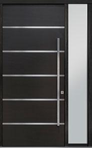 Custom Pivot Front  Door Example, Mahogany-Wood-Veneer-Espresso DB-PVT-B3 1SL18 48x108
