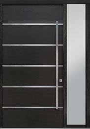 Custom Pivot Front  Door Example, Mahogany Wood Veneer-Espresso DB-PVT-B3 1SL18 48x96