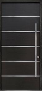 Custom Pivot Front  Door Example, Mahogany-Wood-Veneer-Espresso DB-PVT-B3 48x108