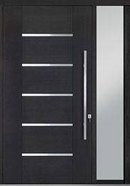 Custom Pivot Front  Door Example, Mahogany-Wood-Veneer-Espresso DB-PVT-B5 1SL18 48x96