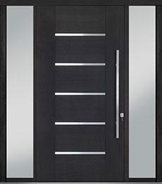 Custom Pivot Front  Door Example, Mahogany-Wood-Veneer-Espresso DB-PVT-B5 2SL18 48x96