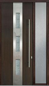 Custom Pivot Front  Door Example, Mahogany Wood Veneer-Walnut DB-PVT-C2 1SL18 42x108