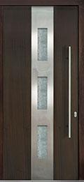 Custom Pivot Front  Door Example, Mahogany Wood Veneer-Walnut DB-PVT-C2 42x96