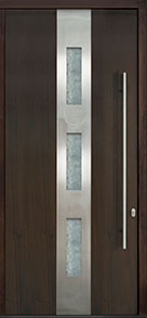 Custom Pivot Front  Door Example, Mahogany Wood Veneer-Walnut DB-PVT-C2 48x108