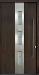 Custom Pivot Front  Door Example, Mahogany Wood Veneer-Walnut DB-PVT-C2 48x96