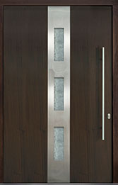 Custom Pivot Front  Door Example, Mahogany Wood Veneer-Walnut DB-PVT-C2 60x96