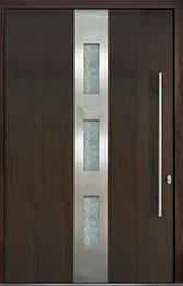 Custom Pivot Front  Door Example, Mahogany-Wood-Veneer-Walnut DB-PVT-C2 60x96
