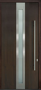 Custom Pivot Front  Door Example, Mahogany Wood Veneer-Walnut DB-PVT-D4 48x108