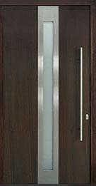 Custom Pivot Front  Door Example, Mahogany Wood Veneer-Walnut DB-PVT-D4 48x96