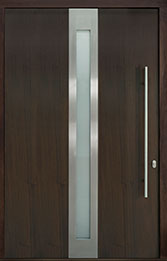 Custom Pivot Front  Door Example, Mahogany-Wood-Veneer-Walnut DB-PVT-D4 60x96