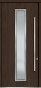 Custom Pivot Front  Door Example, Mahogany Wood Veneer-Walnut DB-PVT-E4 48x108