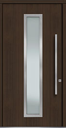 Custom Pivot Front  Door Example, Mahogany Wood Veneer-Walnut DB-PVT-E4 48x96