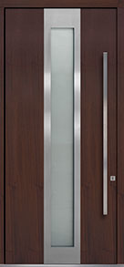 Custom Pivot Front  Door Example, Mahogany Wood Veneer-Mahogany Dark DB-PVT-F4 48x108