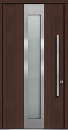 Custom Pivot Front  Door Example, Mahogany-Wood-Veneer-Mahogany Dark DB-PVT-F4 48x96