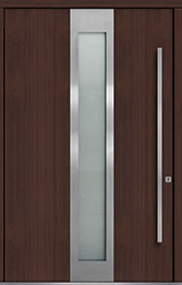 Custom Pivot Front  Door Example, Mahogany-Wood-Veneer-Mahogany Dark DB-PVT-F4 60x96