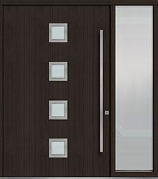 Custom Pivot Front  Door Example, Mahogany Wood Veneer-Espresso DB-PVT-H4 1SL24  60x96