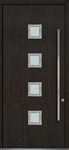 Custom Pivot Front  Door Example, Mahogany Wood Veneer-Espresso DB-PVT-H4 48x108