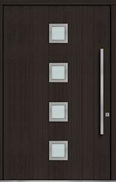 Custom Pivot Front  Door Example, Mahogany Wood Veneer-Espresso DB-PVT-H4 60x96