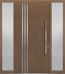 Custom Pivot Front  Door Example, Oak-Wood-Veneer-Light-Loft DB-PVT-L1 2SL18 48x96
