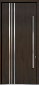 Custom Pivot Front  Door Example, Mahogany Wood Veneer-Walnut DB-PVT-L1 48x108