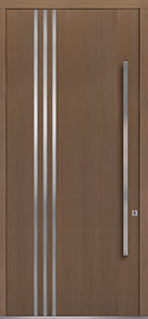Custom Pivot Front  Door Example, Oak-Wood-Veneer-Light-Loft DB-PVT-L1 48x108