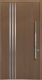 Custom Pivot Front  Door Example, Oak Wood Veneer-Light-Loft DB-PVT-L1 48x96
