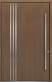 Custom Pivot Front  Door Example, Oak Wood Veneer-Light-Loft DB-PVT-L1 60x96