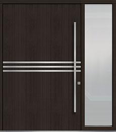 Custom Pivot Front  Door Example, Mahogany Wood Veneer-Espresso DB-PVT-L2 1SL24  60x96