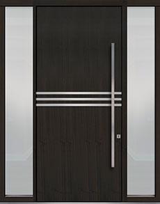 Custom Pivot Front  Door Example, Mahogany-Wood-Veneer-Espresso DB-PVT-L2 2SL18 48x108