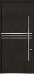 Custom Pivot Front  Door Example, Mahogany Wood Veneer-Espresso DB-PVT-L2 48x108