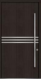 Custom Pivot Front  Door Example, Mahogany Wood Veneer-Espresso DB-PVT-L2 48x96