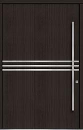 Custom Pivot Front  Door Example, Mahogany Wood Veneer-Espresso DB-PVT-L2 60x96