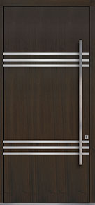 Custom Pivot Front  Door Example, Mahogany Wood Veneer-Walnut DB-PVT-L3 48x108