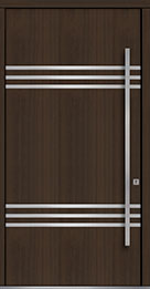 Custom Pivot Front  Door Example, Mahogany Wood Veneer-Walnut DB-PVT-L3 48x96
