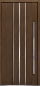 Custom Pivot Front  Door Example, Oak Wood Veneer-Earth DB-PVT-L6 48x108