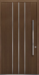 Custom Pivot Front  Door Example, Oak-Wood-Veneer-Earth DB-PVT-L6 48x96