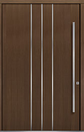 Custom Pivot Front  Door Example, Oak Wood Veneer-Earth DB-PVT-L6 60x96